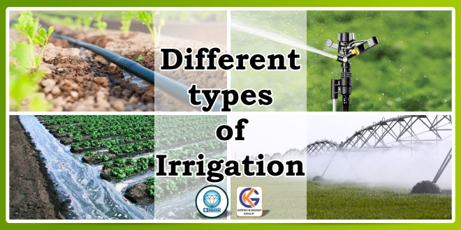 Different types of Irrigation